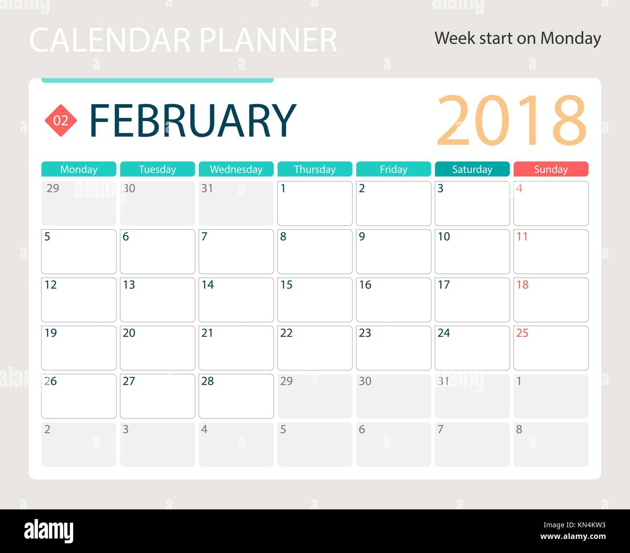 February Calendar Illustration : February stock vector images alamy