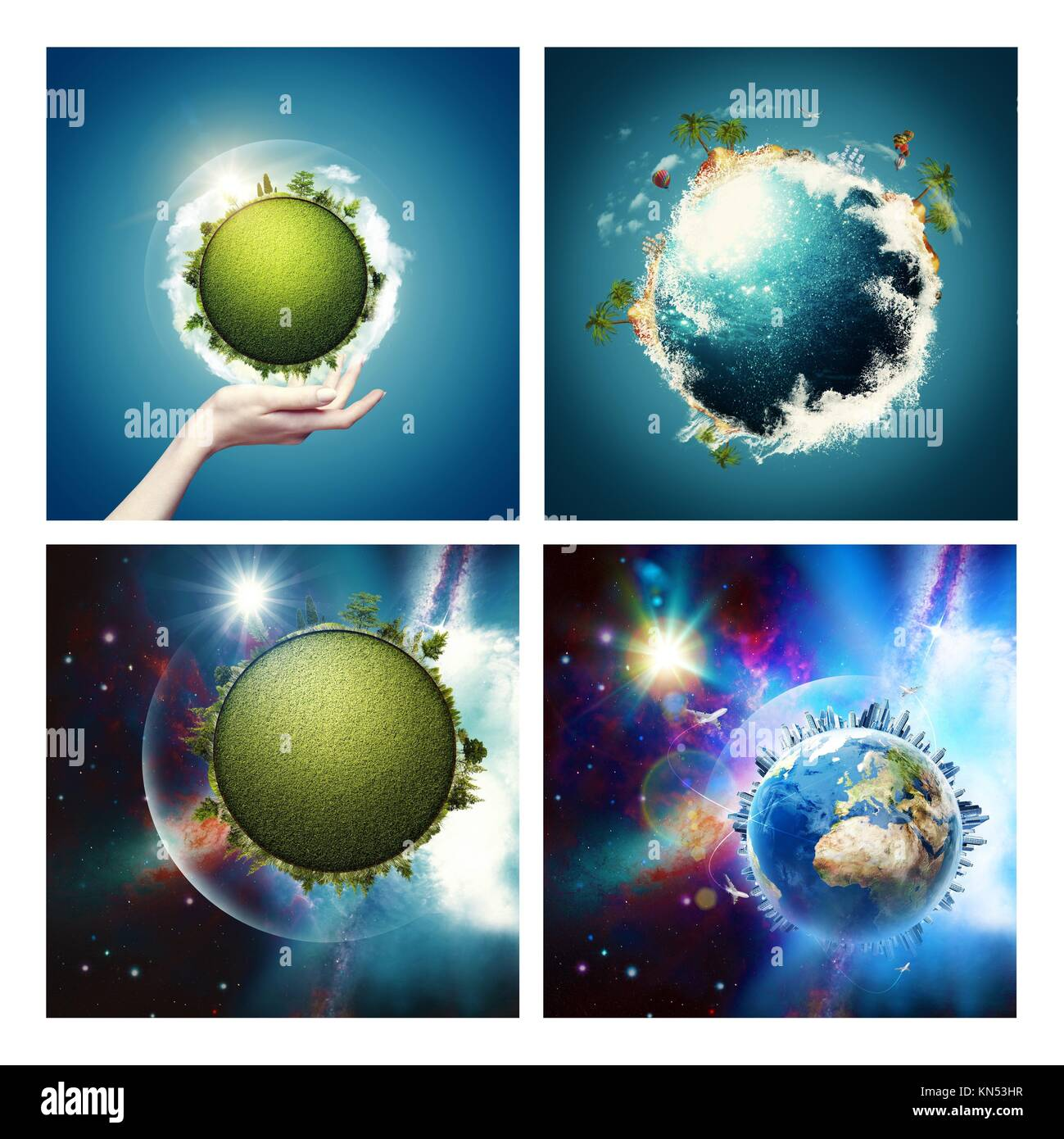 abstract environmental backgrounds set with earth globe nasa