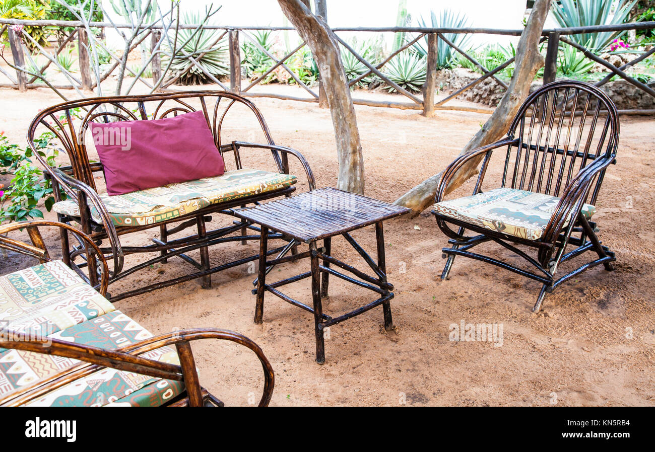 Patio furniture tropical stock photos patio furniture for Outdoor furniture kenya