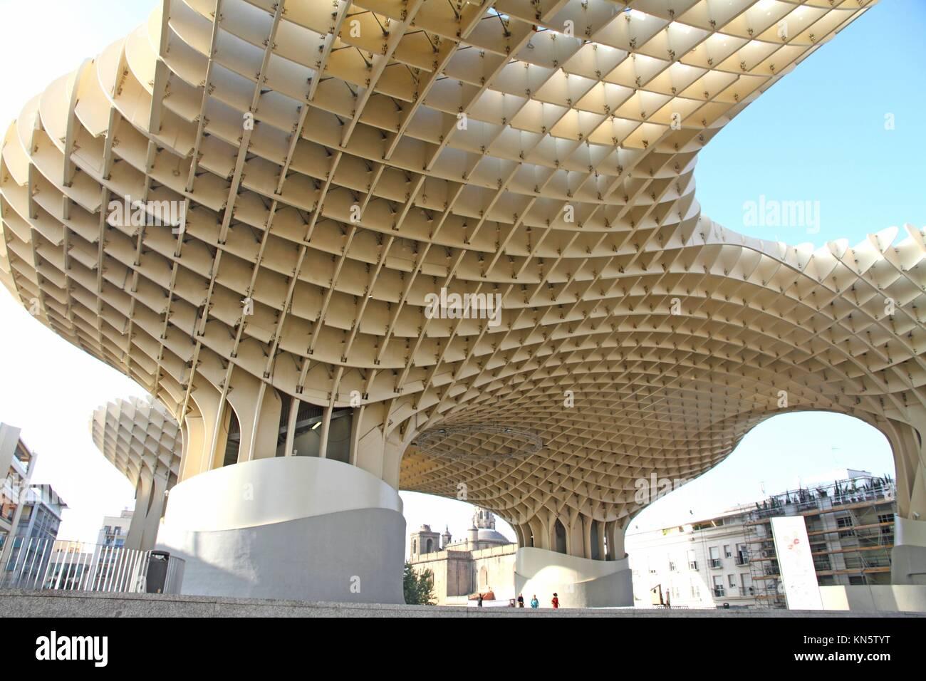 The Metropol Parasol in Seville, Spain, by Jurgen Mayer H Stock ...