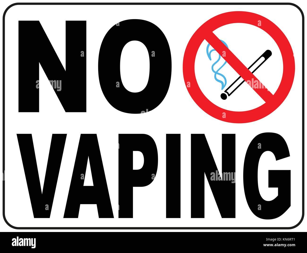 no vaping sign do not smoke electronic cigarette symbol vector