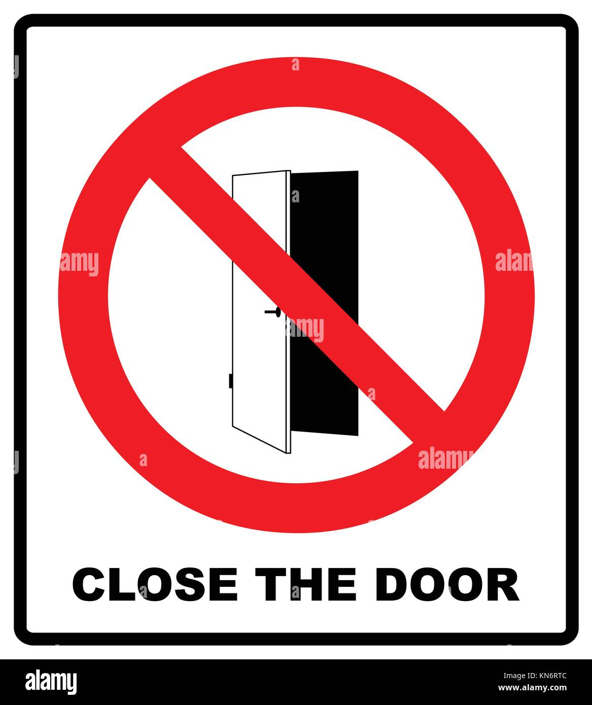 Close The Door Sign Keep This Closed Icon Vector