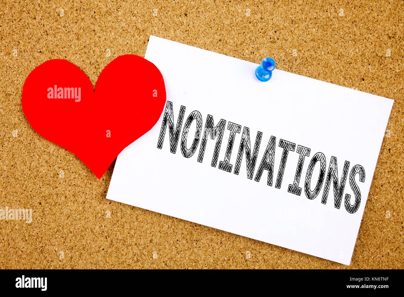 Writing Award Nominations