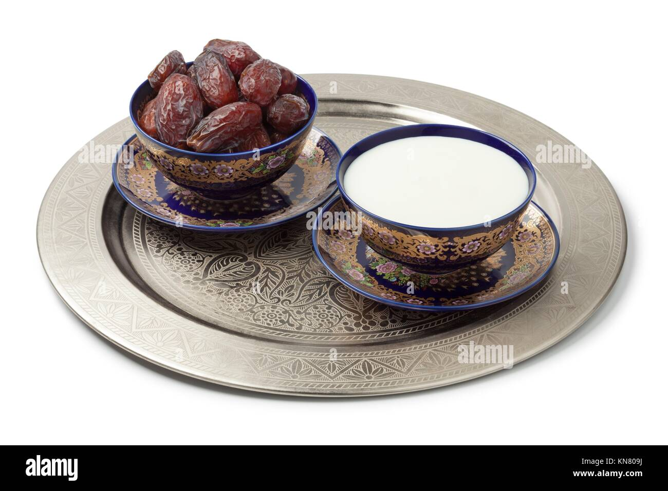 Moroccan bowls stock photos moroccan bowls stock images alamy festive moroccan bowls with milk and dates on white background stock image reviewsmspy