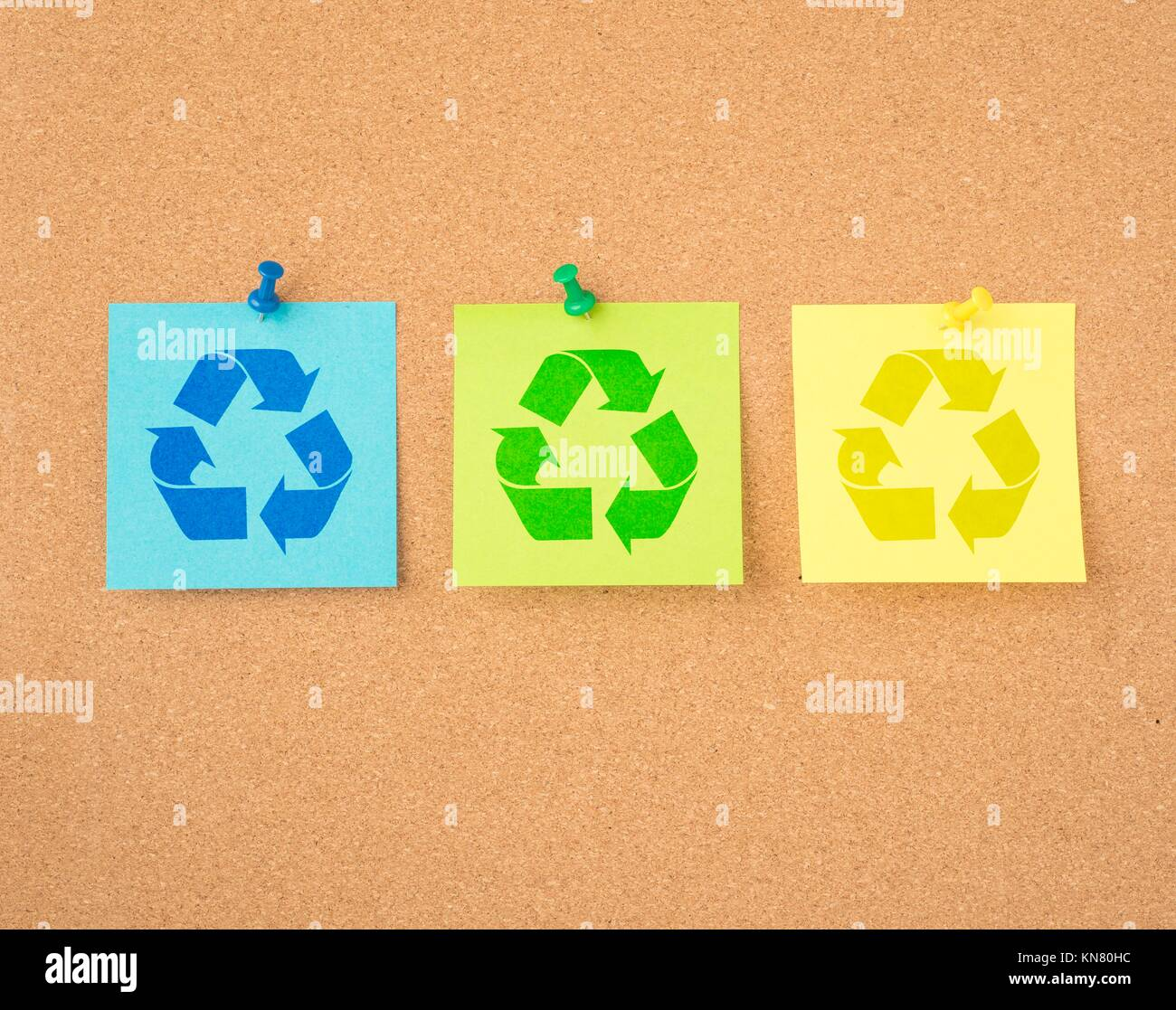 Recycling message stock photos recycling message stock images recycle symbol on paper pinned to message board reminder of recycling and green lifestyle biocorpaavc