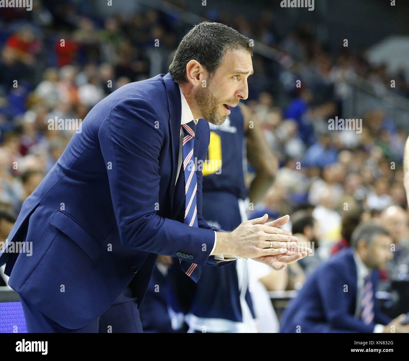 Madrid Spain 10th Dec 2017 Ucam Murcia S Head Coach Ibon Navarro