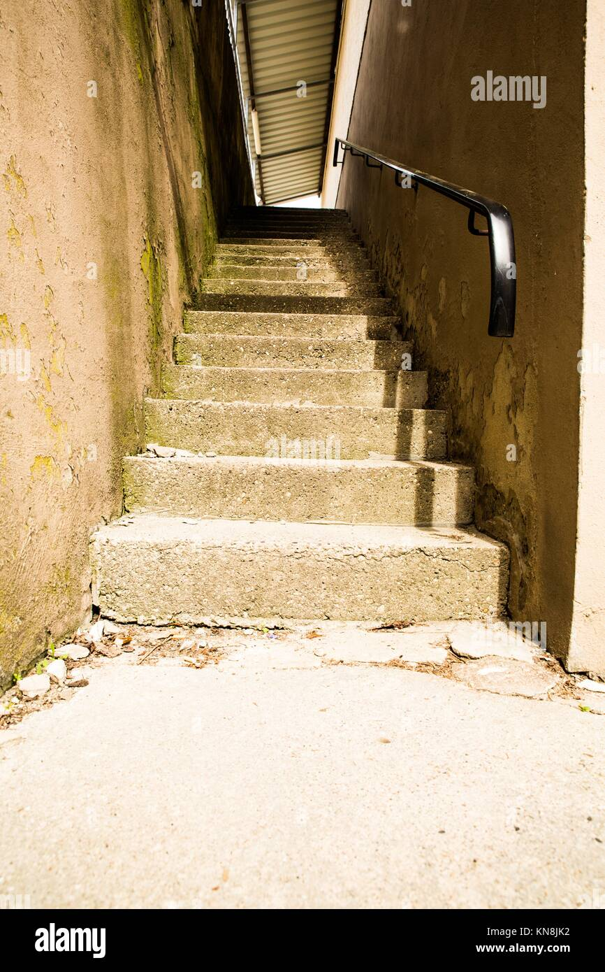 Old Concrete Stairs Between Two Walls Stock Photo 167991350 Alamy