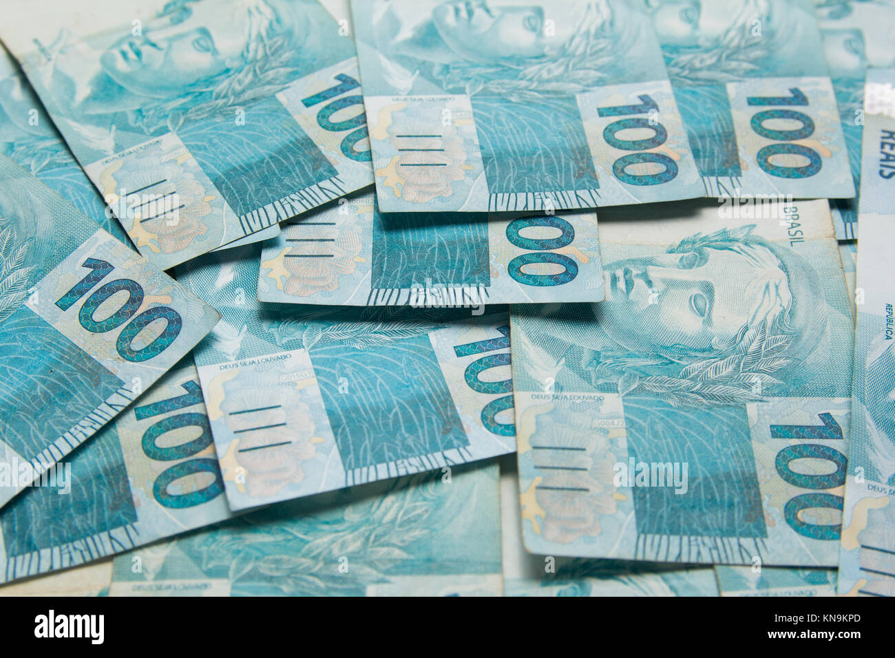 money from brazil notes of real brazilian currency concept of