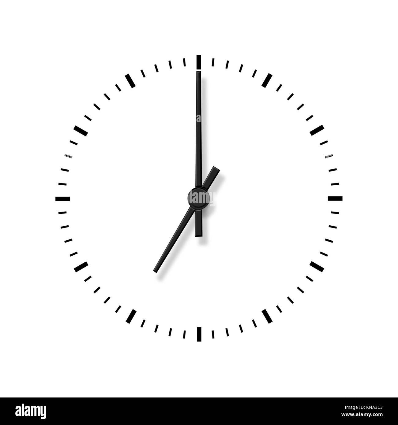 Clock Without Numbers Isolated On White Background Highly Detailed