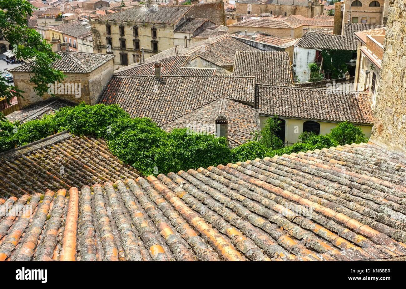 Spanish tile roofs stock photos spanish tile roofs stock for Spanish tile roofs