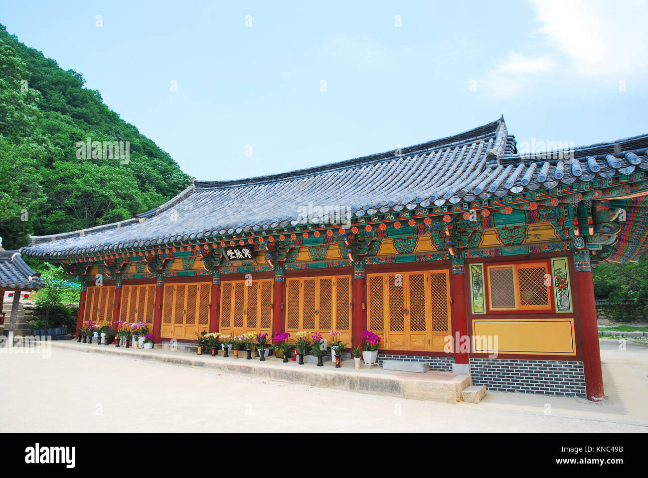 Korean Styled Detailed Architecture Of The Main Building Symbol Of