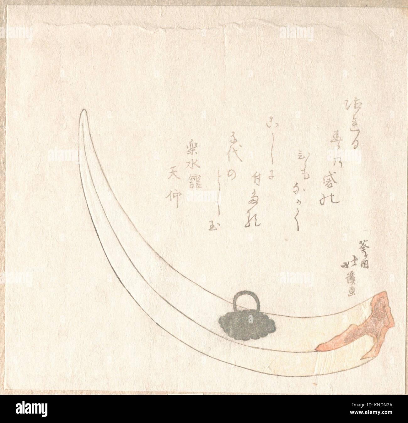 Horn Flower Vase. Artist: Totoya Hokkei (Japanese, 1780 1850)