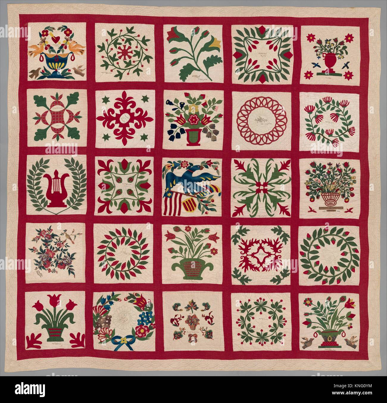Quilt Album Pattern Maker Members Of The Brown And Turner Stock