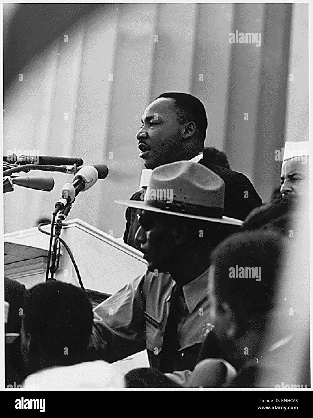 Dr Martin Luther King Jr Delivers His I Have A Dream Speech On