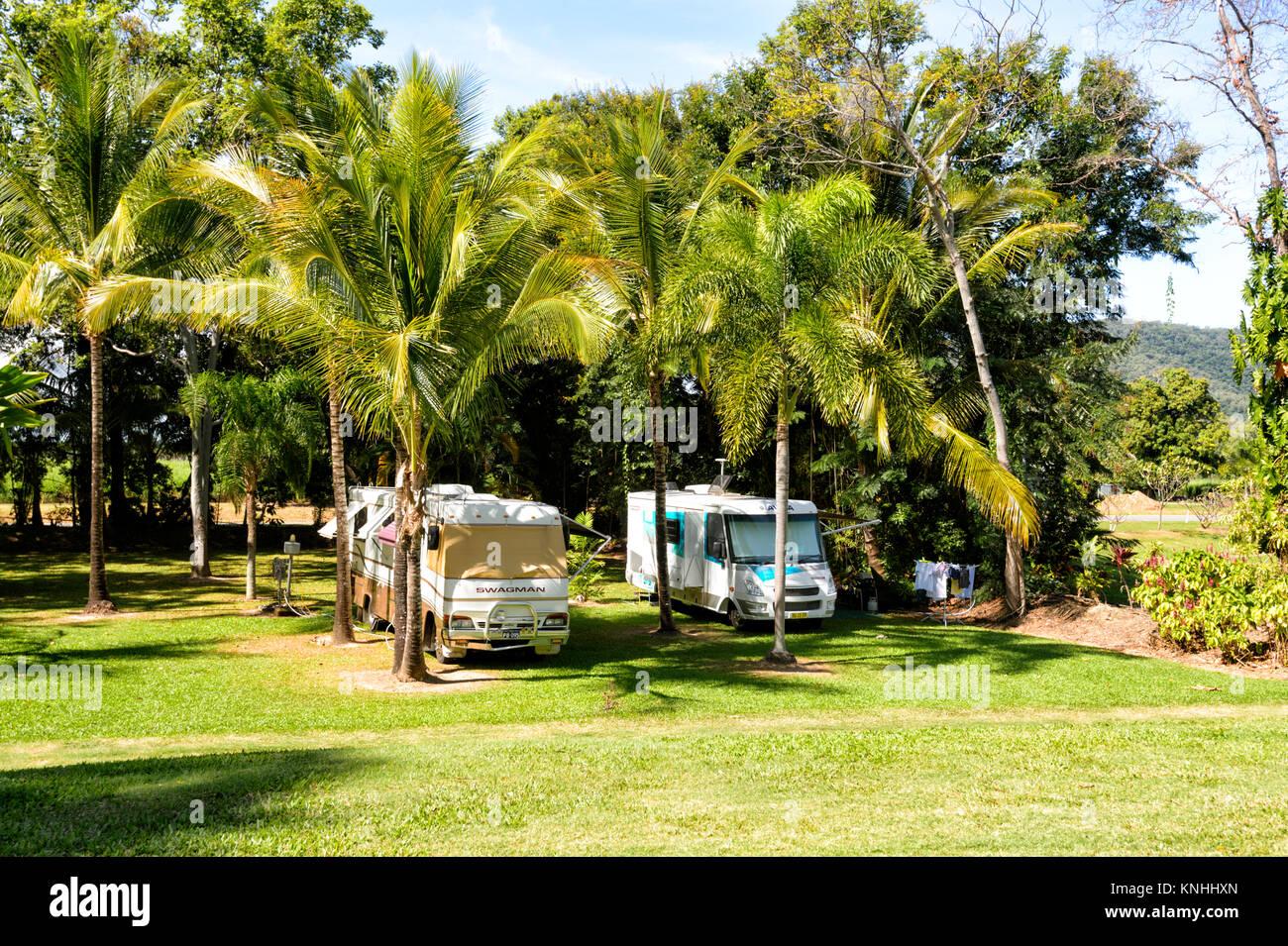 caravan and camping park stock photos caravan and. Black Bedroom Furniture Sets. Home Design Ideas