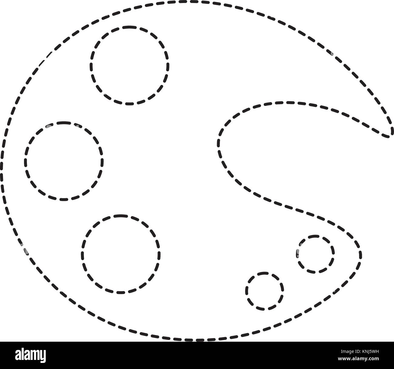 dotted shape art palette tool to paint and drawing Stock Vector ...