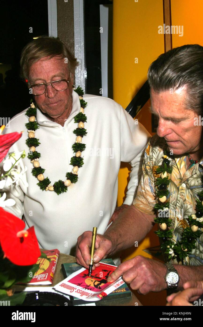 Apr 16 2004 Newport Beach CA USA Legendary Surfers BRUCE BROWN And MIKE HYNSON Celebrate The 40th Anniversary Of Surfing Film Endless Summer