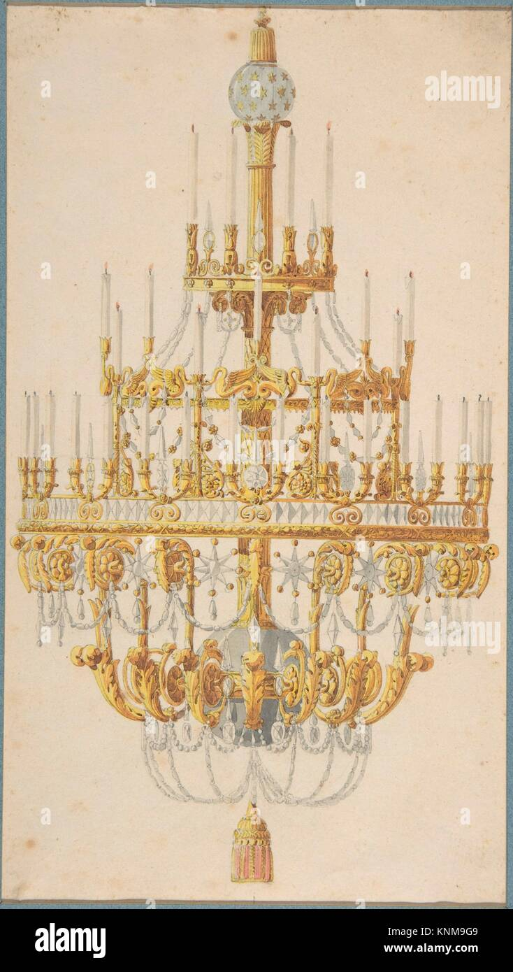 Design for chandelier artist anonymous french 18th century stock design for chandelier artist anonymous french 18th century former attribution formerly attributed to charles percier french paris 1764 1838 aloadofball Images