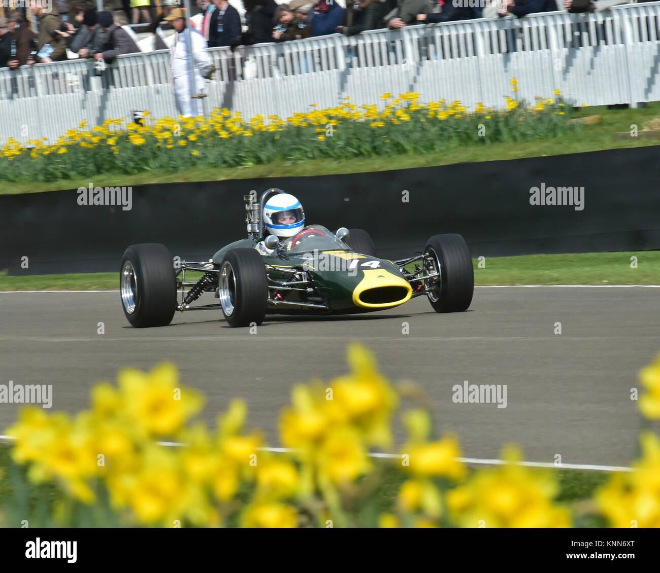 John Pearson, Lotus-Ford 41, Derek Bell Cup, Formula 3, Goodwood ...
