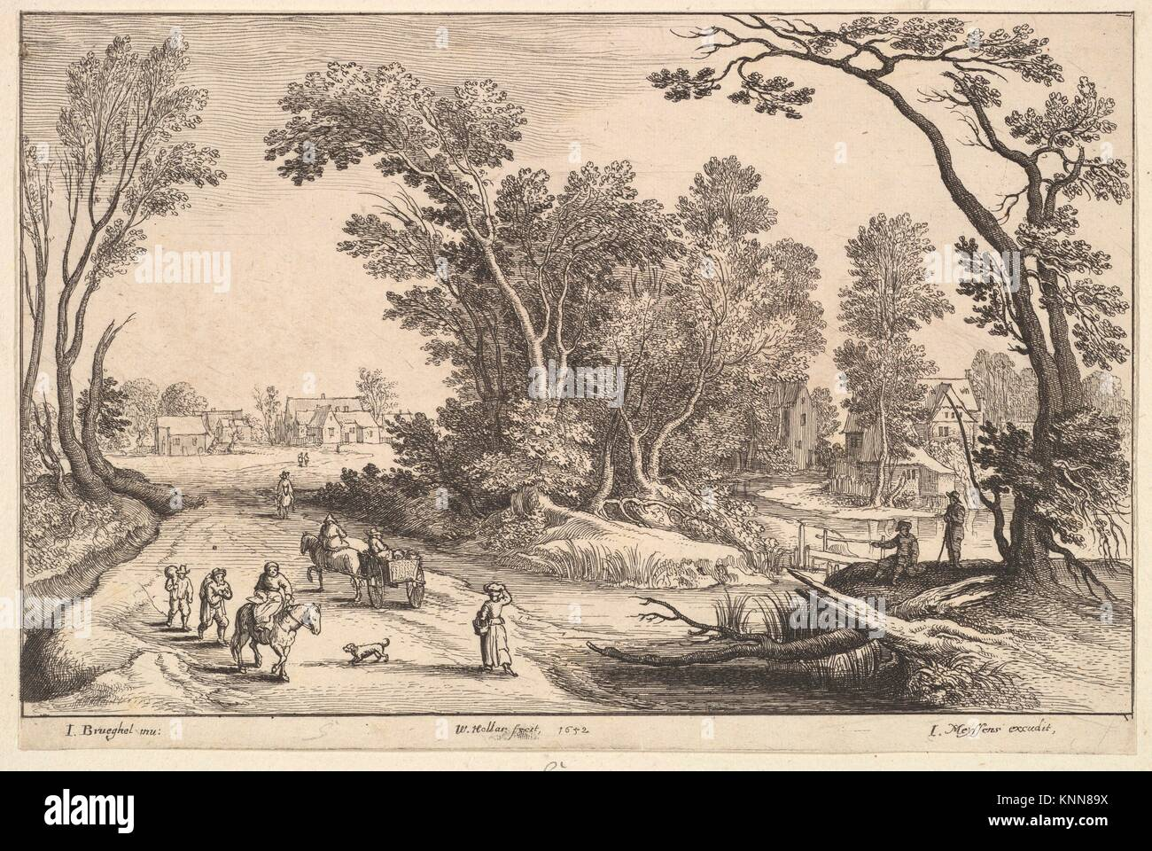 Etcher: Wenceslaus Hollar (Bohemian, Prague 1607-1677 London); Artist:  After Jan Brueghel the Elder (Netherlandish, Brussels