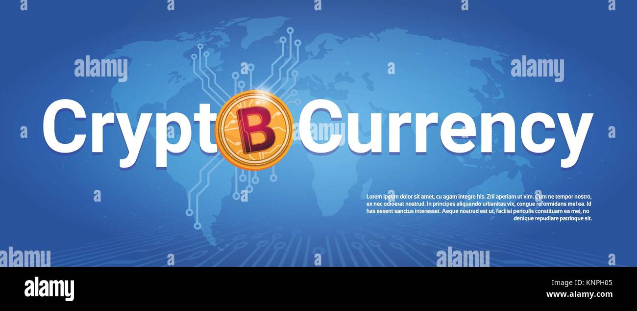 Crypto currency horizontal banner golden bitcoin over world map crypto currency horizontal banner golden bitcoin over world map background digital web money concept gumiabroncs Choice Image
