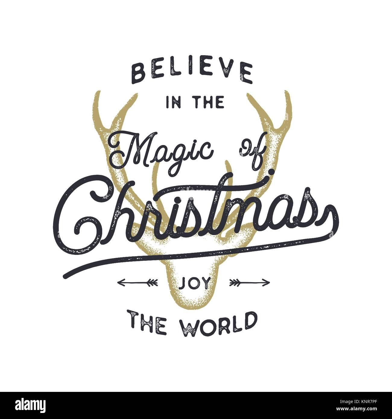 Christmas typography quote design. Believe in Christmas magic. Happy ...