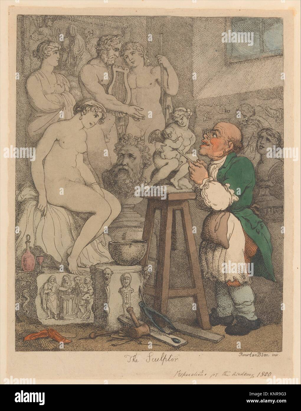 Artist: Thomas Rowlandson (British, London 1757-1827 London); Date: ca.  1800; Medium: Hand-colored etching; Dimensions: Sheet: 11 15/16