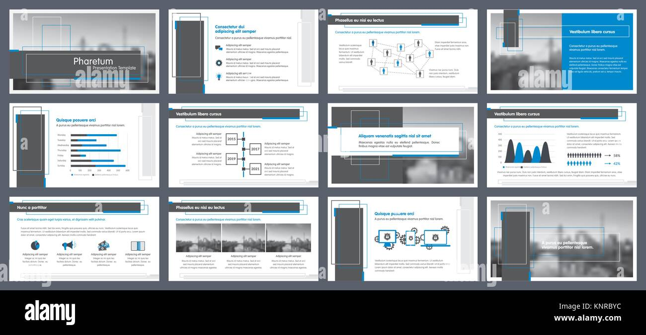Elements of infographics for presentations templates. Annual report ...