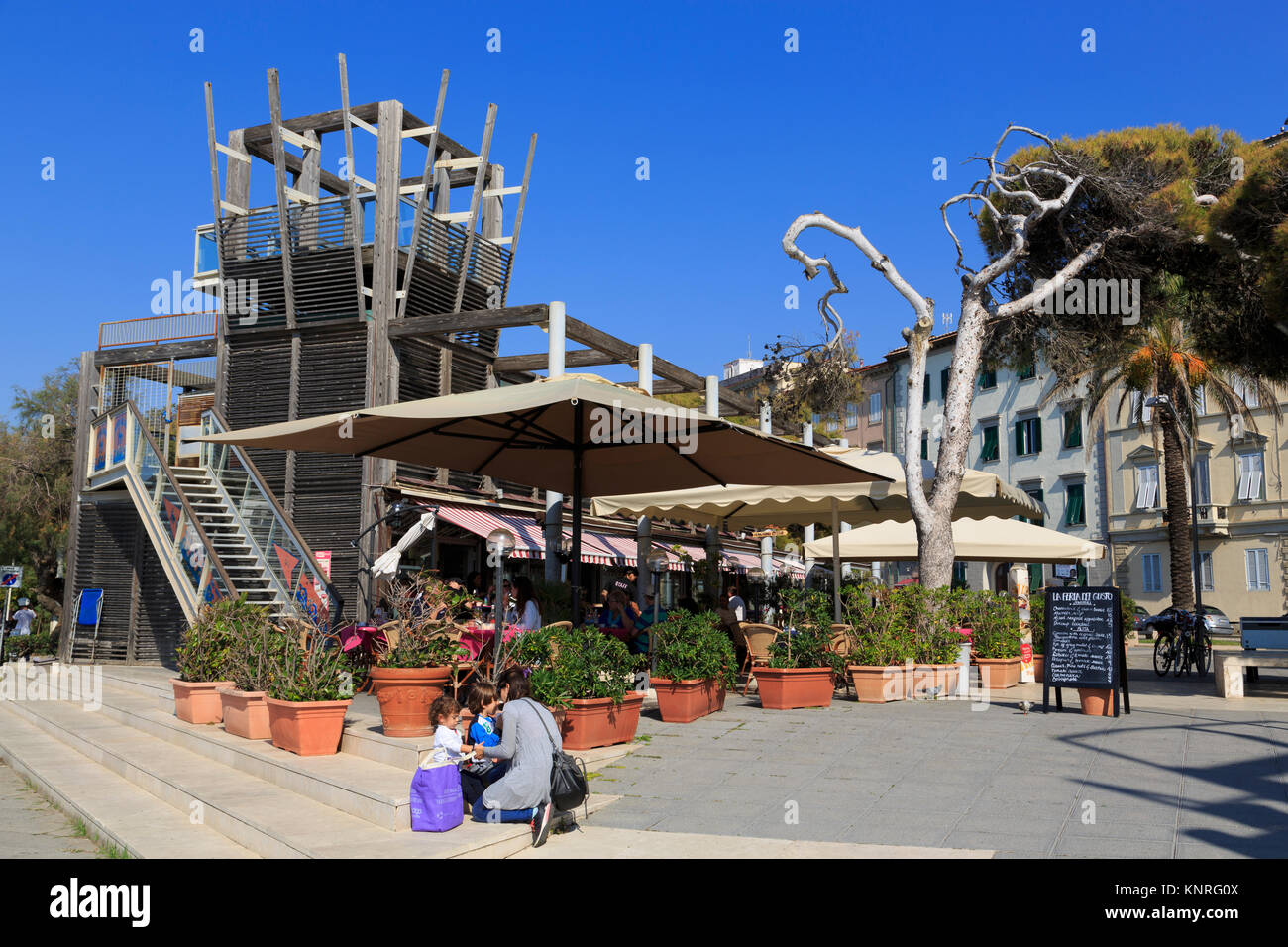 Terrazza Mascagni, Livorno City, Tuscany, Italy, Europe Stock ...