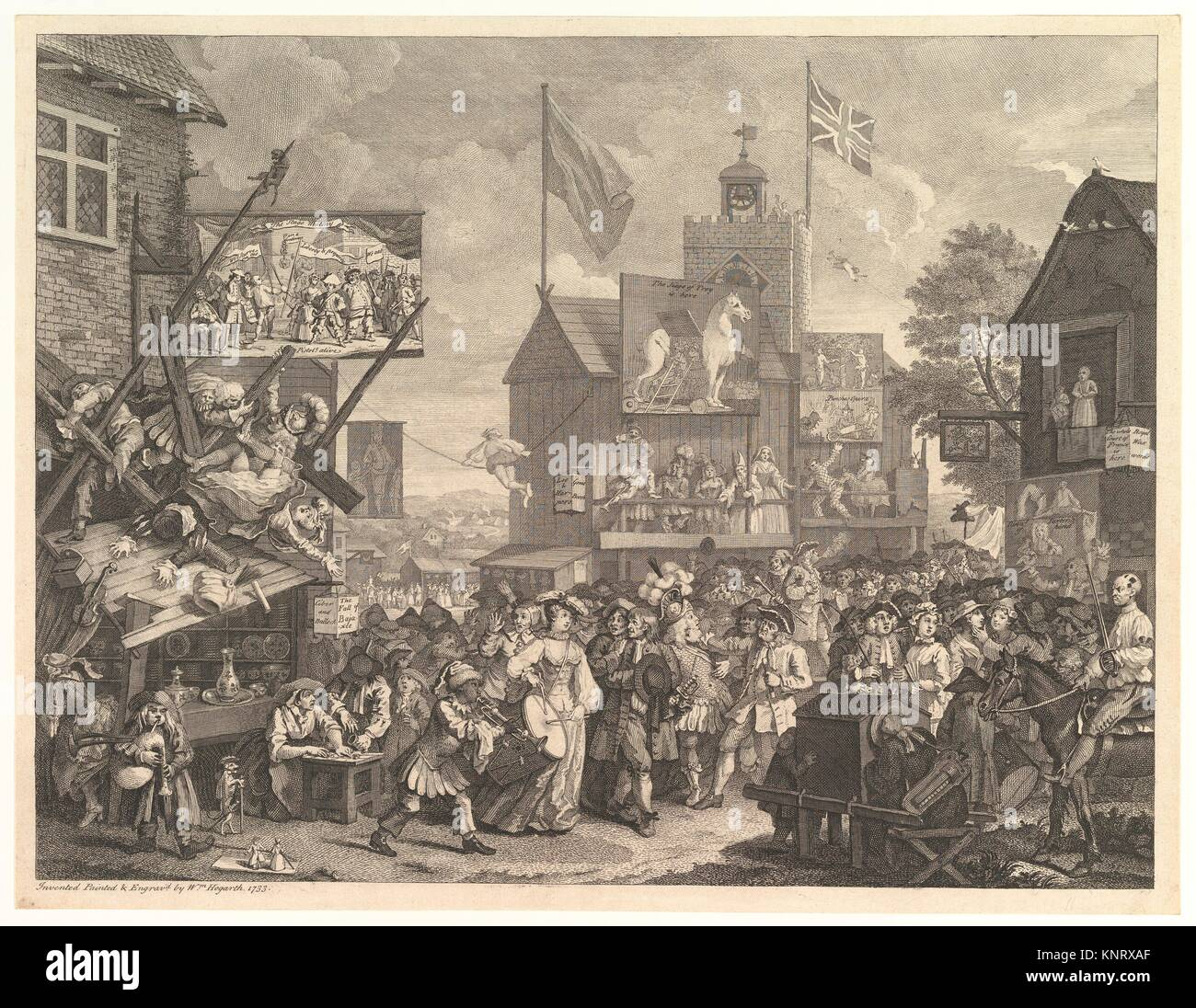 Artist: William Hogarth (British, London 1697-1764 London); Date: 1734;  Medium: Etching and engraving; only state; Dimensions: sheet: