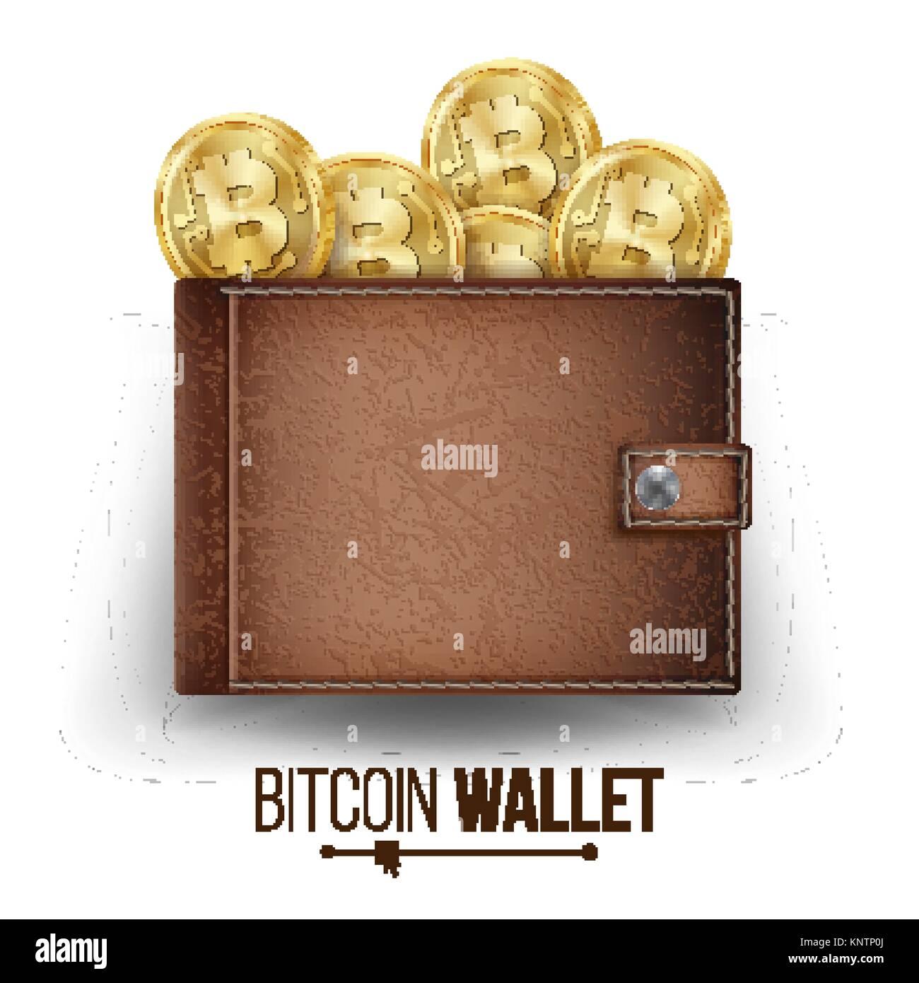 Full bitcoin wallet vector brown color bitcoin gold coins top full bitcoin wallet vector brown color bitcoin gold coins top view financial ccuart Choice Image