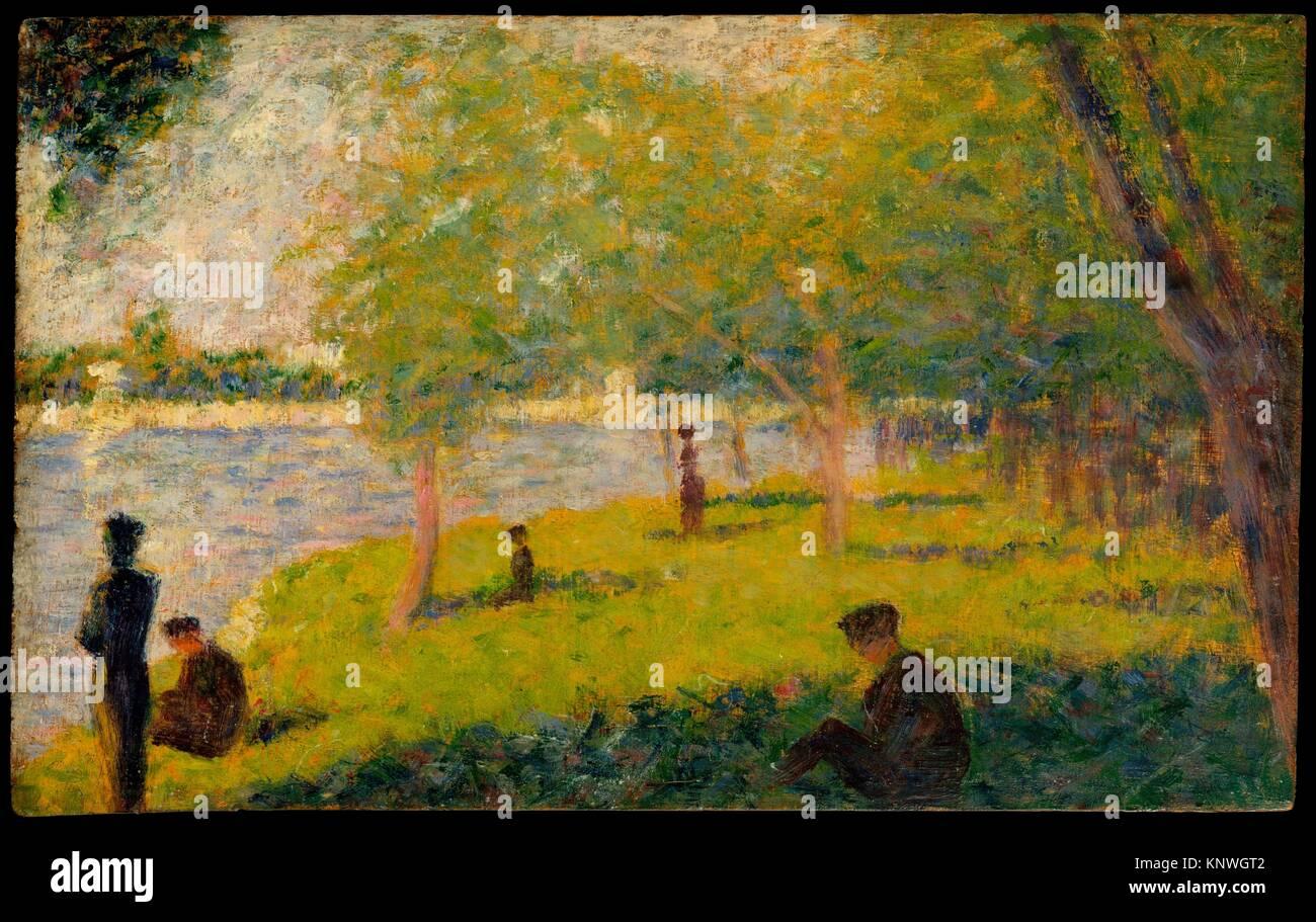 la grande jatte A sunday on la grande jatte -1884, 1886 by georges seurat pointillism genre painting art institute of chicago, chicago, il, us.