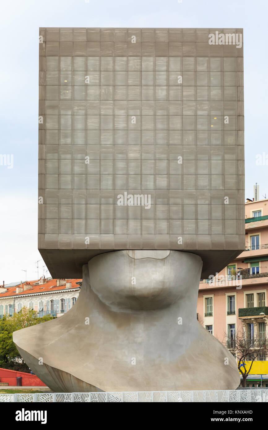 La Tête au Carré, The Square Head sculpture building, a cube ...