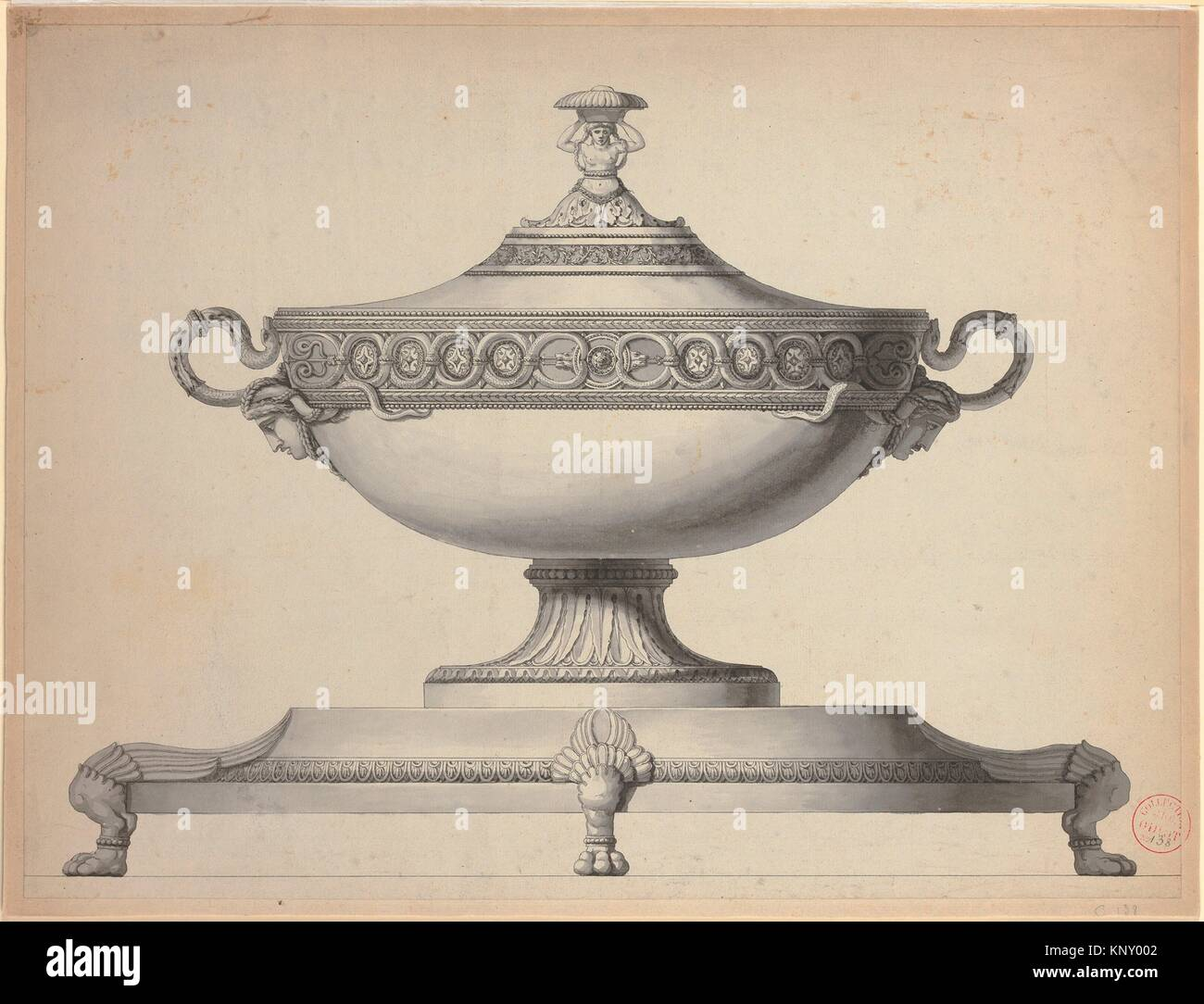 Design For A Covered Tureen On A Footed Stand Artist Workshop Of - Paris port au prince