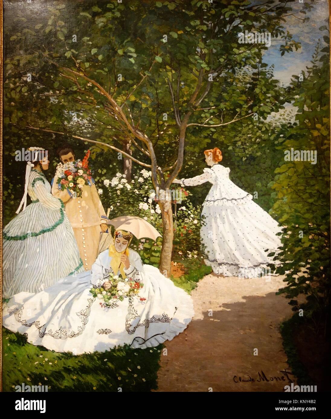 Femmes au jardin stock photos femmes au jardin stock for Au jardin paris