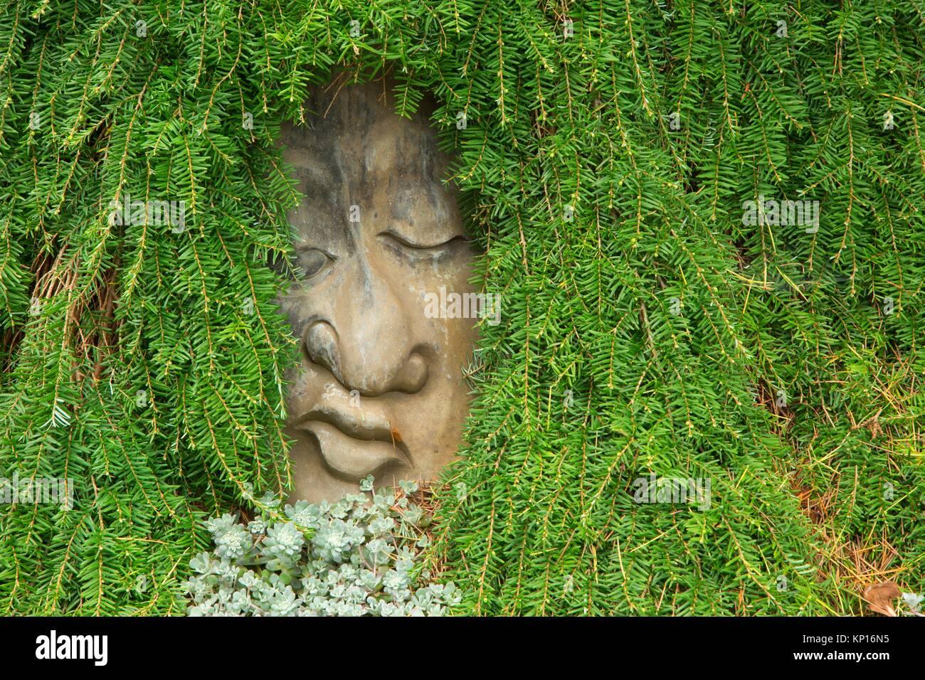 Garden Face Sculpture, Oregon Garden, Silverton, Oregon