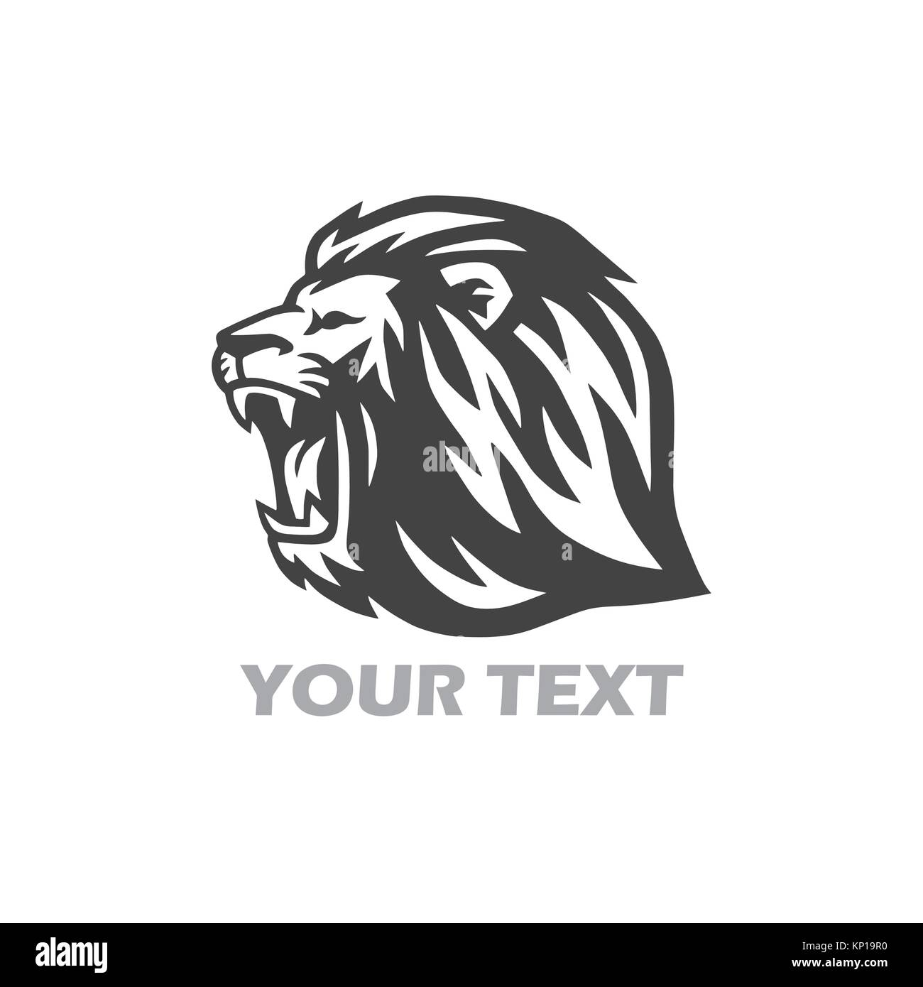 lion roaring stock vector images alamy