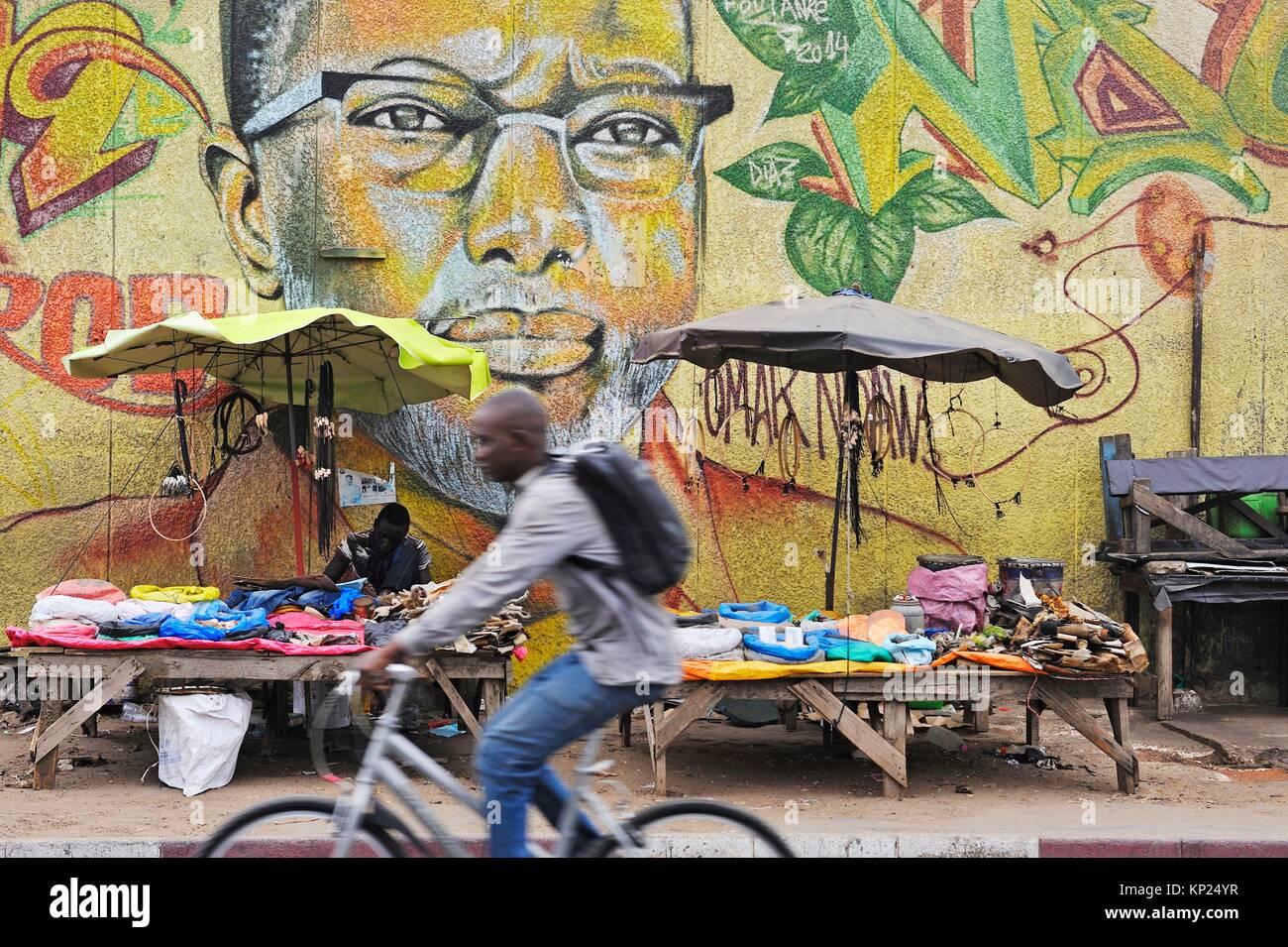 Dakar art senegal stock photos dakar art senegal stock for African mural painting