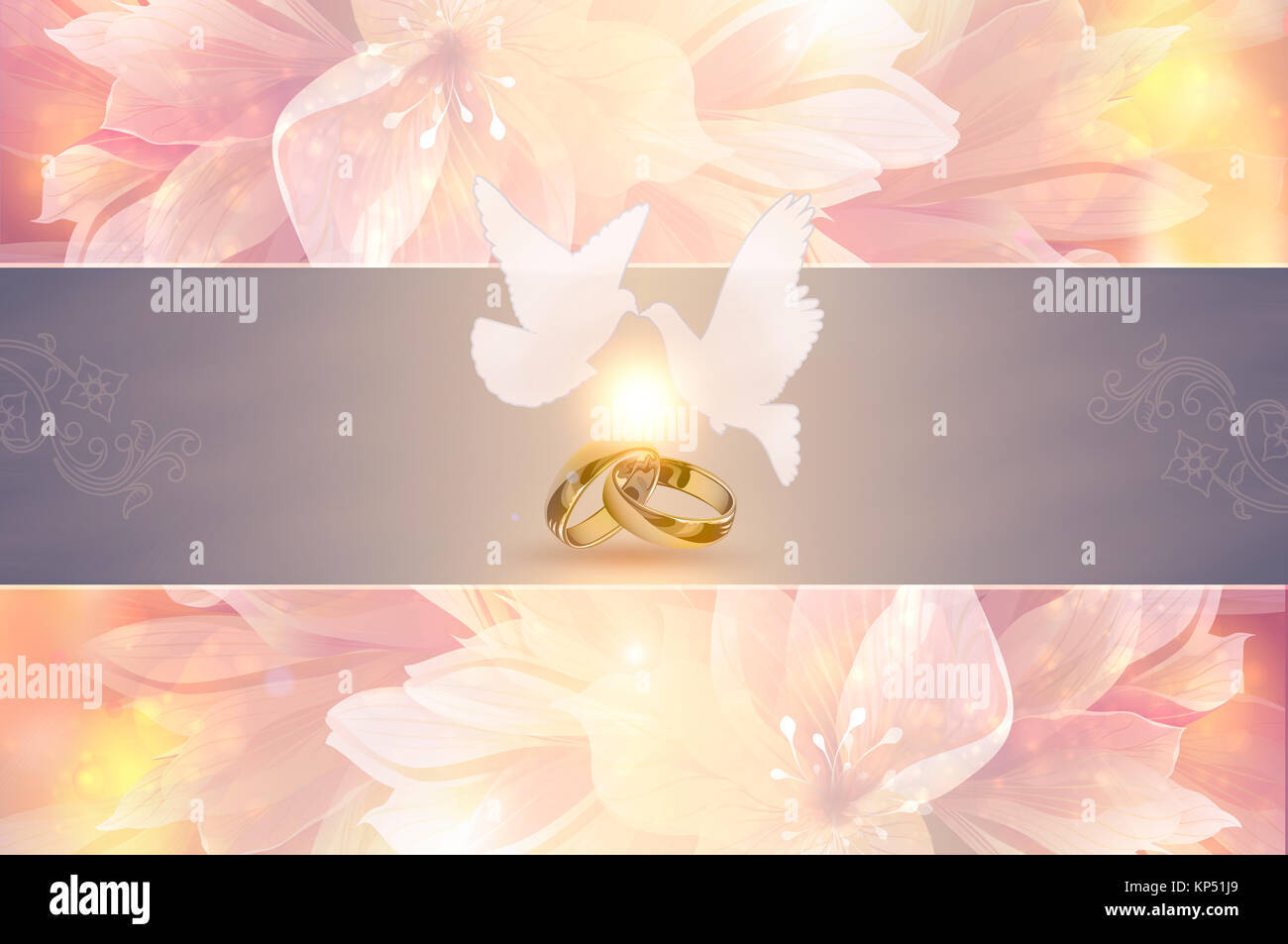 Template For Wedding Invitation Card Elegant Floral Background With