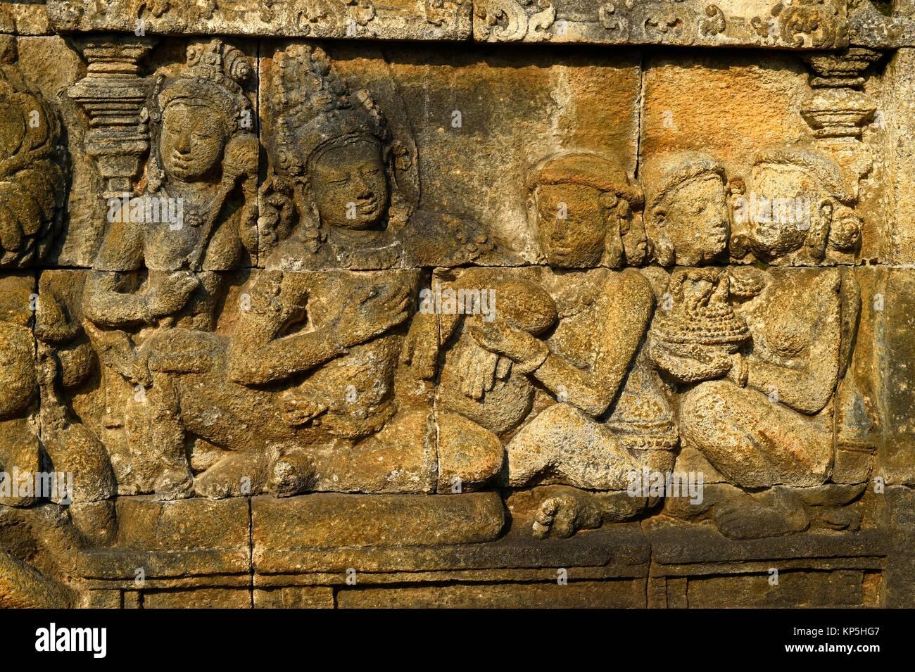Stone relief statue sculpture stock photos