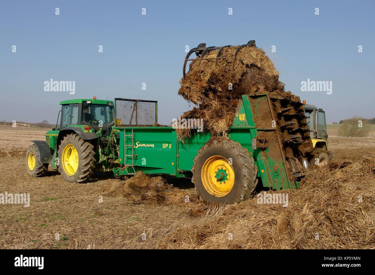 John Deere Spreaders Lawn Tractor : Spreader stock photos images alamy
