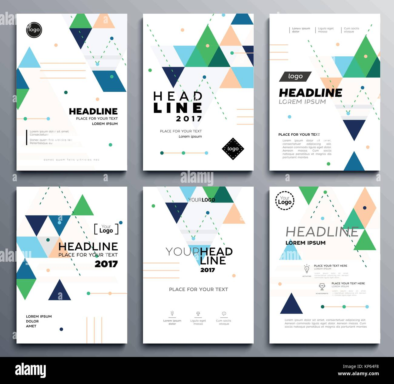presentation booklet cover - vector template a4 pages on abstract, Presentation Abstract Template, Presentation templates