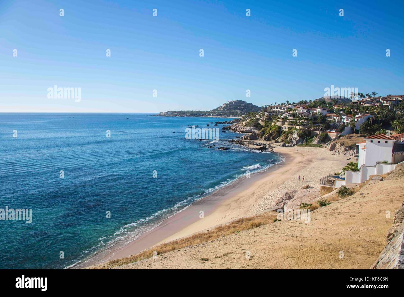Empty Beach In Cabos San Lucas Baja California Mexico Ocean And Mountains On