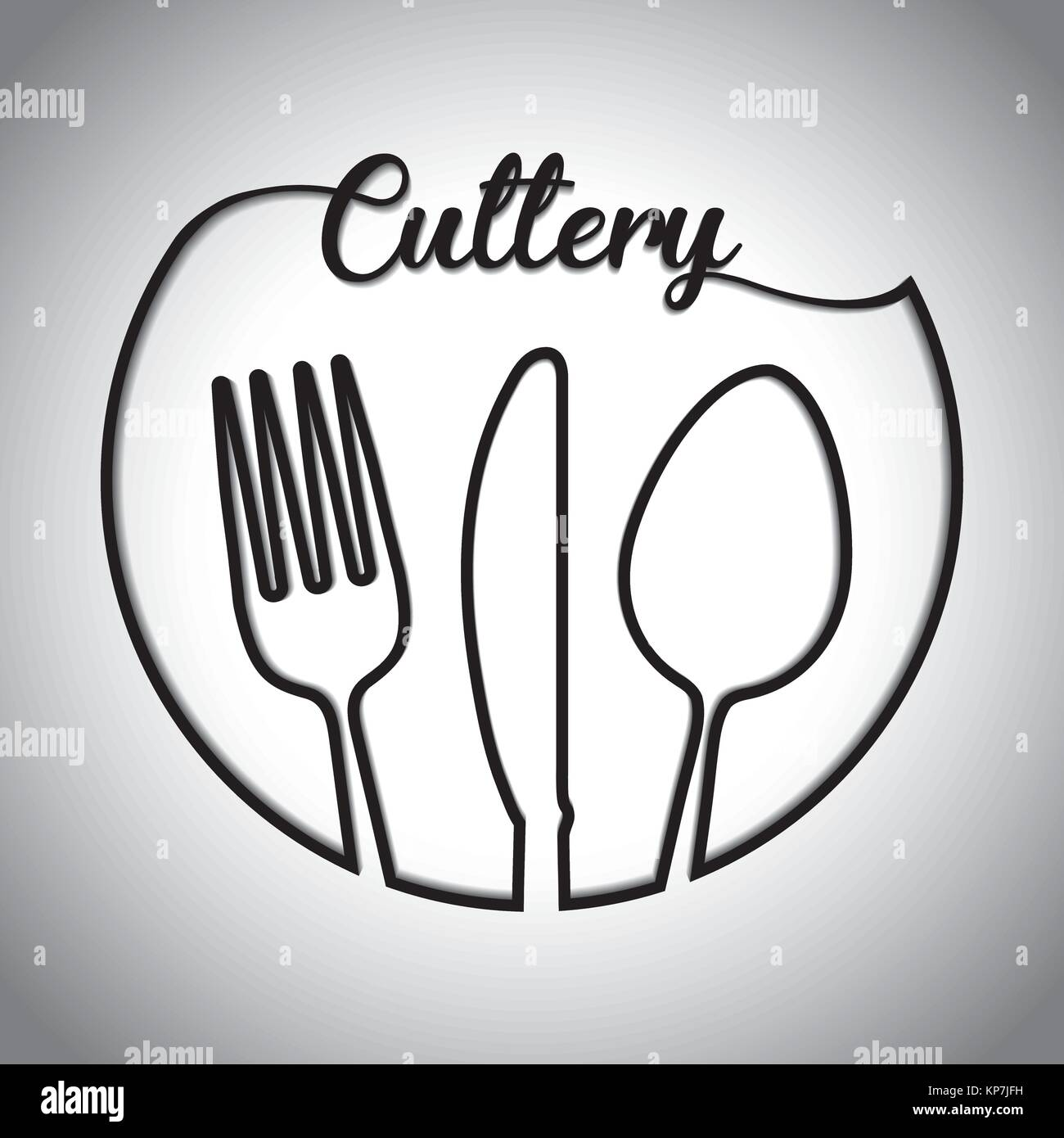 Fork Spoon Knife Cutlery Symbol Stock Vector Art Illustration