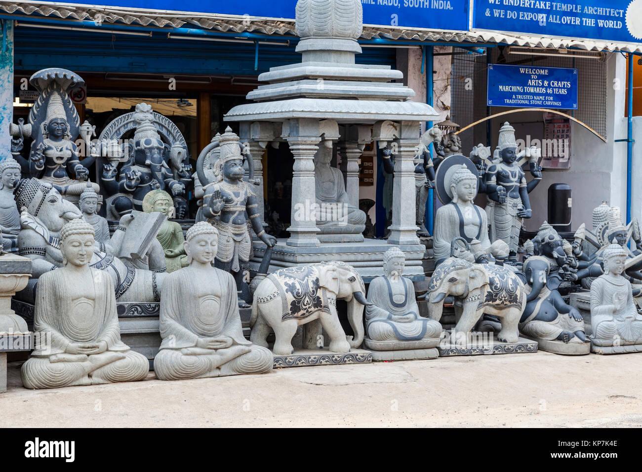 Stone sculpture tamil nadu stock photos
