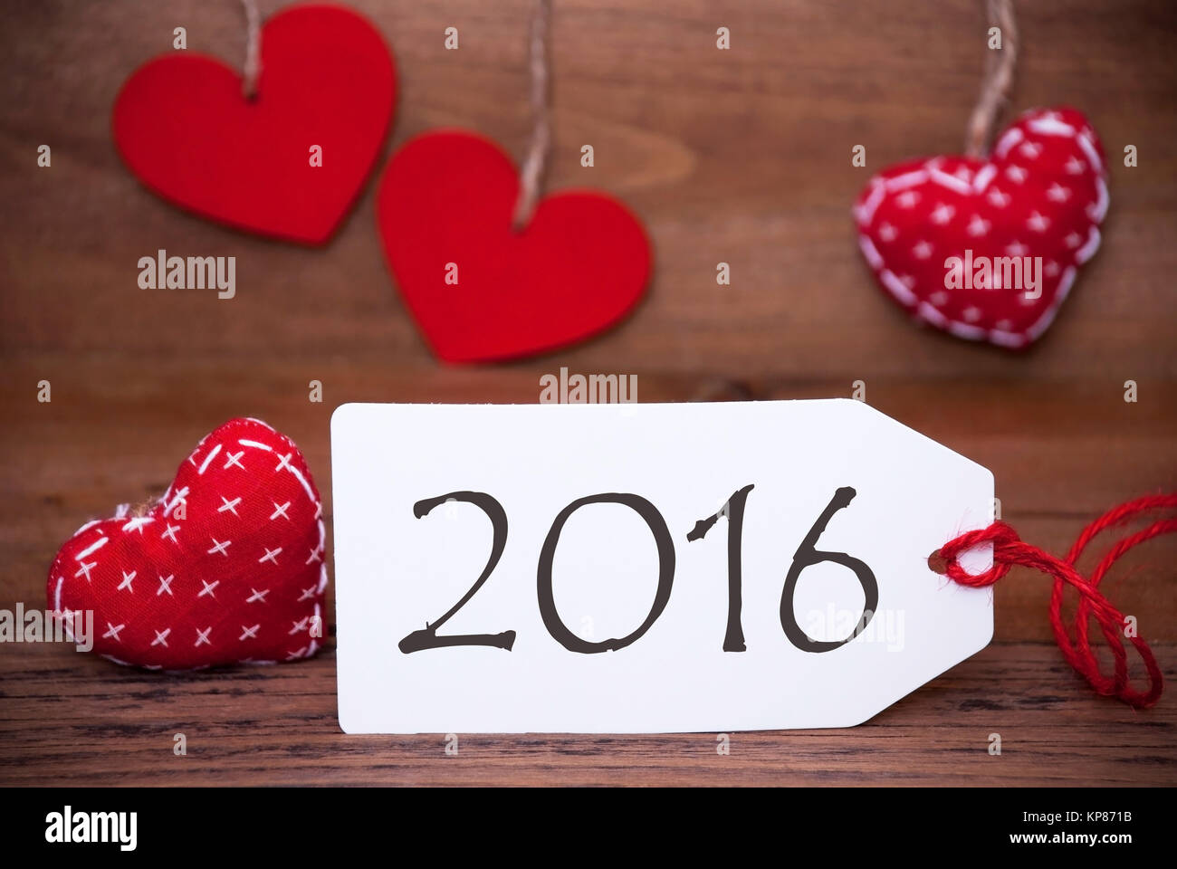 One White Label With Text 2016 For Happy New Year Greetings