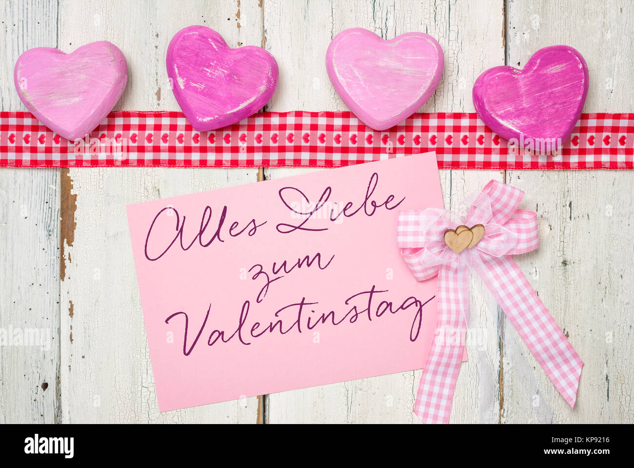 Pink Card   Alles Liebe Zum Valentinstag   Stock Image