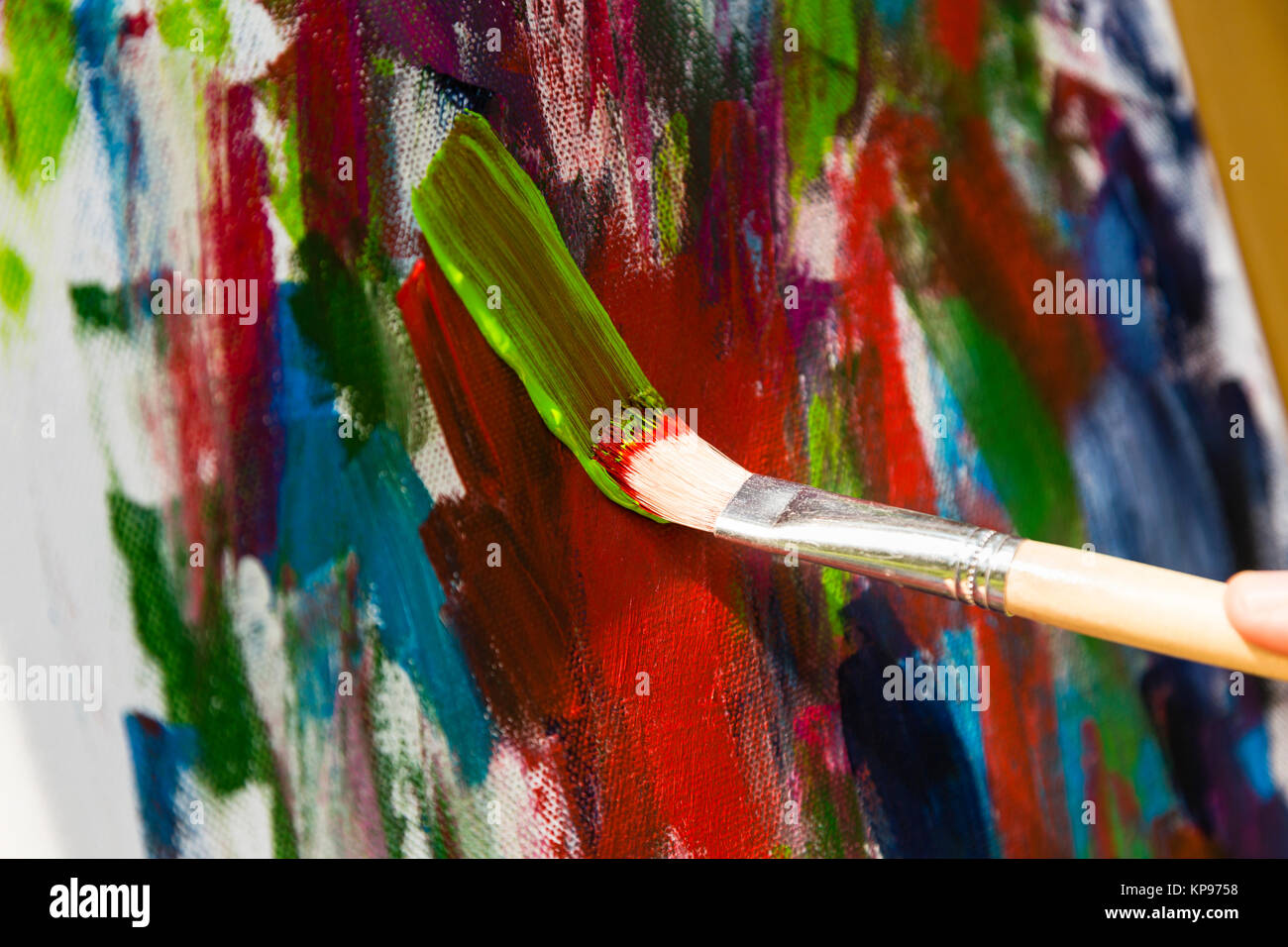 Acrylfarben stock photos acrylfarben stock images alamy - Malen mit acryl auf leinwand ...