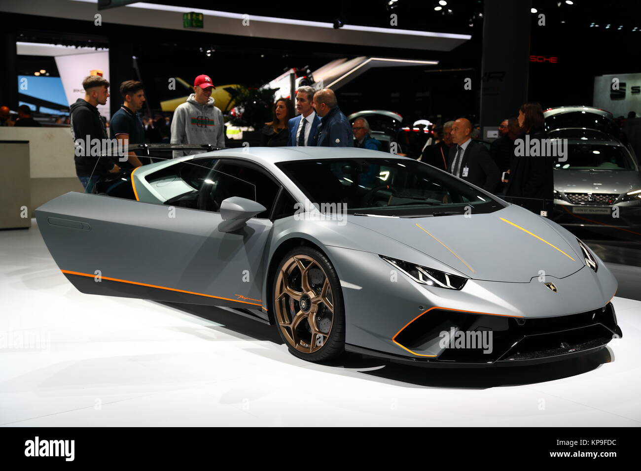 Lamborghini Huracan Performante At The Frankfurt International Motor Show  2017, Germany   Stock Image