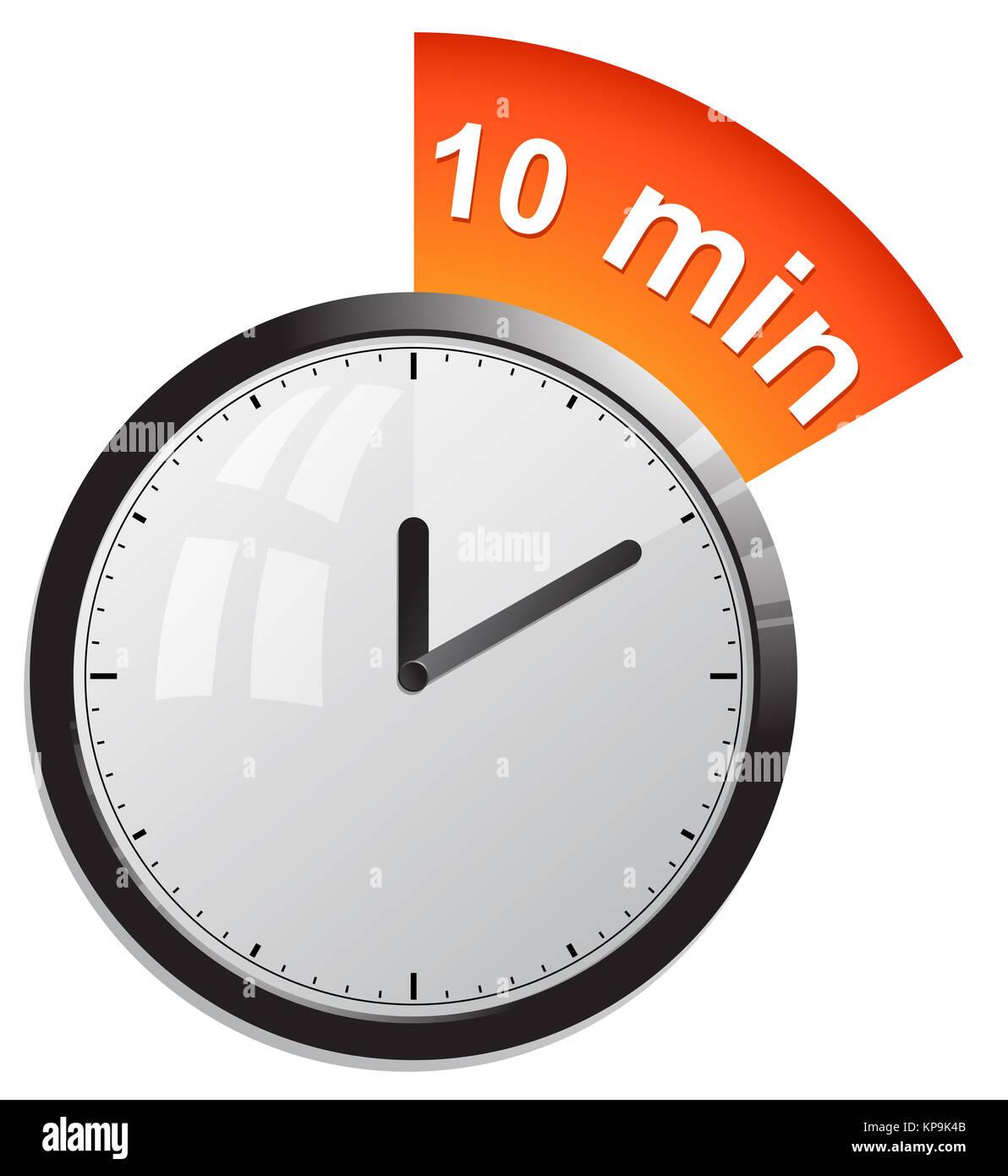 timer 10 minutes vector illustration